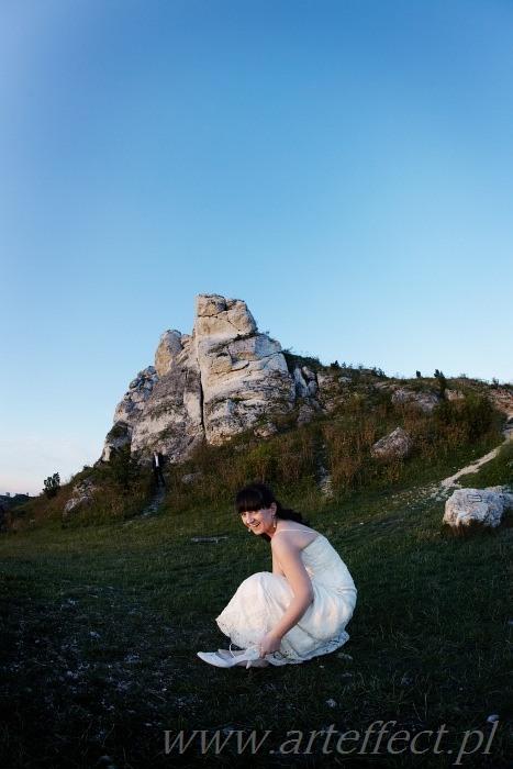 fotograf ślubny Częstochowa Olsztyn plener ślubny na jurze krakowsko-czestochowskiej