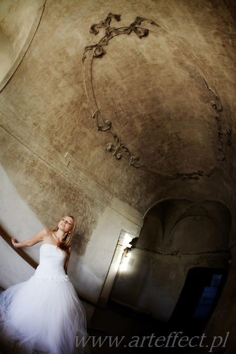 zdjęcia ślubne sesja plener w pałacu fotograf Katowice